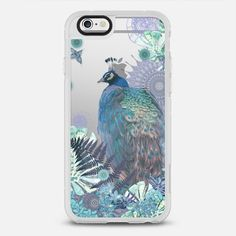 PEACOCK TIFFANY MINT Crystal Clear iPhone Case - New Standard Case