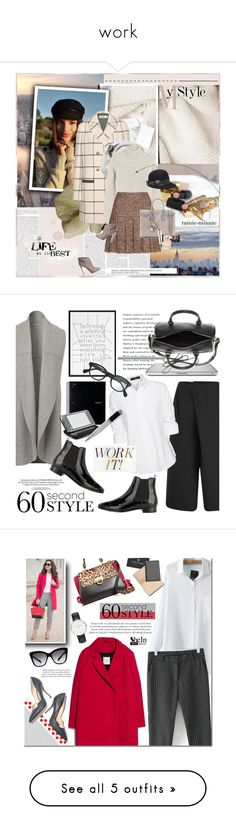 """""""work"""" by katiekuchenwright ❤ liked on Polyvore featuring Made of Me, Tory Burch, Brunello Cucinelli, Closed, Dolce&Gabbana, Yves Saint Laurent, Gianvito Rossi, Elie Saab, Anja and Bebe"""