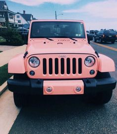 Dream Cars, My Dream Car, Fancy Cars, Cute Cars, Jeep Rose, Jeep Carros, Pink Jeep, Blue Jeep, Lime Green Jeep