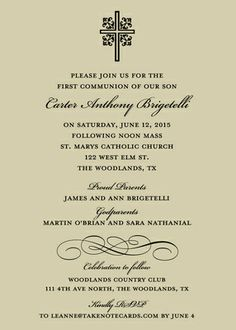 Ornate Cross Invitations