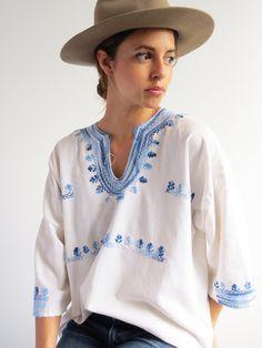 Cotton Folk Blouse // Vintage Embroidered Top SOLD