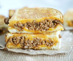 sloppy grilled cheese sandwiches - insanely delicious!