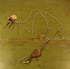 Love Heals Pearl and Bronze Necklace