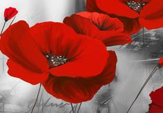 Cuadro moderno Romantic Poppies 98618 additionalImage 7 Abstract Canvas Art, Poppies, Romantic, Wall Art, Artwork, Painting, Landscape, Google, Poppies Painting