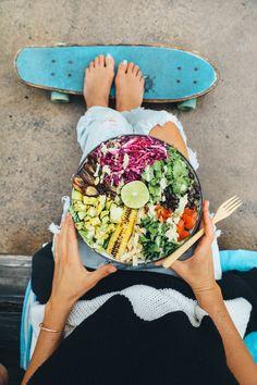 Santa Fe Salad Salad w/Grilled Avocado & Creamy Cilantro Dressing — Earthyandy Healthy Foods To Eat, Healthy Snacks, Healthy Recipes, Healthy Dinners, Stay Healthy, Eating Healthy, Vegan Recipes Videos, Whole Food Recipes, Raw Recipes