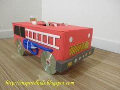 fire truck valentine box