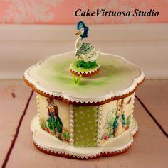 Easter gingerbread box - Cake by topsecretfairy