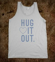 Hug It Out Tank - Shells&Cheese Design - Skreened T-shirts, Organic Shirts, Hoodies, Kids Tees, Baby One-Pieces and Tote Bags