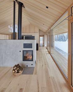 Cottage Design, House Design, Modern Barn House, Casa Patio, Design Industrial, Casas Containers, Model Homes, Interior Architecture, Scandinavian Architecture