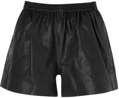 Rika Star Trim Leather Shorts in Black on shopstyle.com