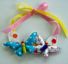 Happy Butterfly Necklet for little girls by MissAdorable on Etsy, $30.00