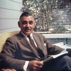 Clark Gable at his home in Encino, CA. in 1957.