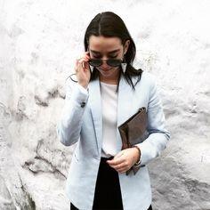 Fashionista IsThisIrene in her Sumissura Blazer: Suits For Women, Women Wear, Linen Blazer, Photos Of The Week, Female, Stylish, Coat, Womens Fashion, Blazers