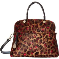 Furla Piper Medium Dome (Toni Pinky/Onyx) Satchel Handbags ($490) ❤ liked on Polyvore featuring bags, handbags, black, satchel purse, dome satchel handbag, structured handbag, furla purses and dome handbag