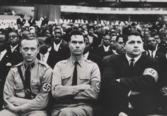 Members of the American Nazi Party attending a Nation of Islam rally in 1961.