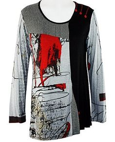 Lior Paris - Paint Splat, Abstract Tunic with Trimmed Scoop Neck at Amazon Women's Clothing store: Tunic Shirts