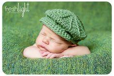 Crochet Baby Newsboy Hat Pattern for Newborn to Toddler