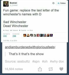 Supernatural they forgot about Mary-mard and John-johd