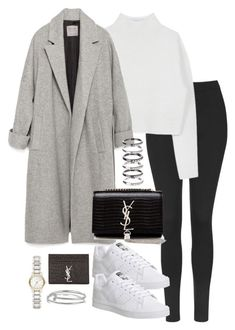 """Untitled #5187"" by theeuropeancloset on Polyvore featuring Topshop, Dion Lee, Zara, adidas, Yves Saint Laurent, M.N.G, Burberry and Kenneth Jay Lane"