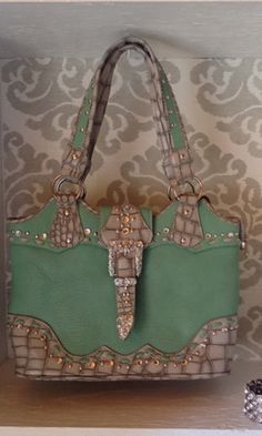 Turquoise Buckle Purse