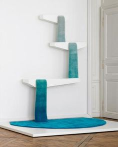 We have all of us get used to Small bath mats , Easily and often DIY. Reservoir rug by Dean Brown is a carpet cascading like a waterfall, Diy Design, Interior Design, Cat Climber, Innovation, Cat Cafe, Cat Room, Brown Rug, Brown Brown, Scratching Post