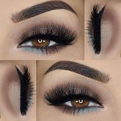 ___ ♡ Eyeshadows: @bhcosmetics 88 color matte palette ___ ♡ Lashes: @luxylash Westside ___ ♡ Liner: @motivescosmetics Little Black Dress ___ ♡ Brows: @motivescosmetics Essential Brow Kit