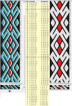 20 tarjetas, 5/3 colores, repite cada 28 movimientos // sed_367 diseñado en GTT༺❁