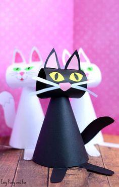 Plantilla de papel Cat Craft para niños