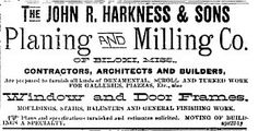 1893 John R. Harkness & Sons Planing and Milling Co. of Biloxi, Mississippi Daily Herald Newspaper, Biloxi, MS