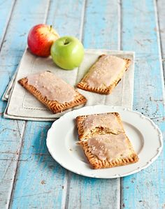 my version of these apple pie pop tarts were not made from scratch .... i used apple pie filling and pillsbury pie crust.