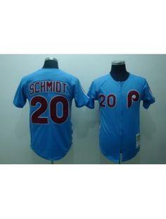 Notice : ''Package - mail cheap jerseys!!''  Philadelphia Phillies 20 Mike Schmidt Blue Jerseys Throwback