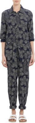 A.P.C. Leaf-Pattern Jumpsuit