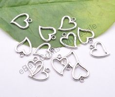 10/20/50Pcs Retro Style Tibet Silver Lovely Heart Charms Pendant Jewelry Finding #Unbranded
