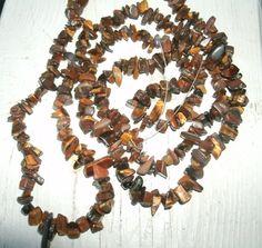 Gemstone Bead Chip strand of  Tiger Eye  35 by KrystalKlarityBeads