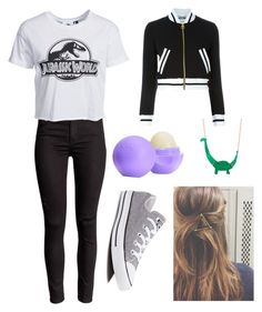 """""""Untitled #2"""" by boston-c on Polyvore featuring New Look, Moschino, Converse, Eos, women's clothing, women, female, woman, misses and juniors"""