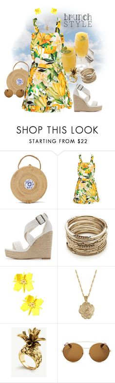 """""""Brunch Romp!"""" by krusie ❤ liked on Polyvore featuring Charlotte Russe, Sole Society, 2028, Ann Taylor and Givenchy"""