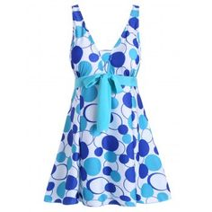 SHARE & Get it FREE | Polka Dot Padded Underwire Plus Size SwimdressFor Fashion Lovers only:80,000  Items·FREE SHIPPING Join Dresslily: Get YOUR $50 NOW!