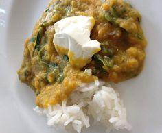 Rezept Linsen-Spinat-Curry (vegan) von aguse23 - Rezept der Kategorie Hauptgerichte mit Gemüse