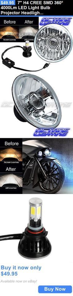 motorcycle parts: 7 H4 Cree Smd 360° 4000Lm Led Light Bulb Projector Headlight Harley Motorcycle BUY IT NOW ONLY: $49.95