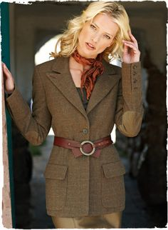 Love it belted and the suede elbow patches. Pembroke Jacket -- Peruvian Connection ----