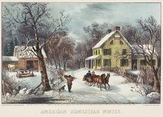 American Homestead Winter, Currier & Ives
