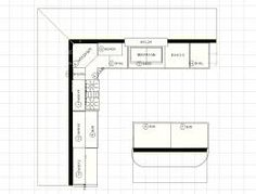 Charmant 12 X 12 Kitchen Layouts With Floating Island