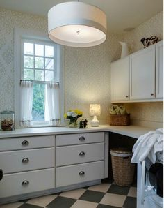 Perfect laundry room. Clean and comfy House on Lake Michigan | hookedonhouses.net