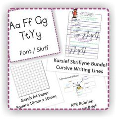 General educational material & Freebies Line Graphs, A4 Paper, Cursive, Textbook, Homeschool, Bullet Journal, Writing, Education, Onderwijs