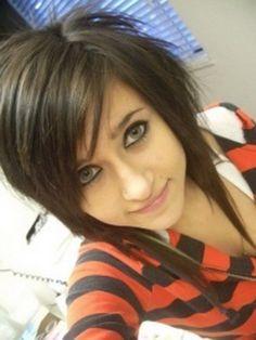 Layered emo haircuts