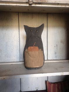 Primitive FOLK ART cat.............. tracieanddonnie