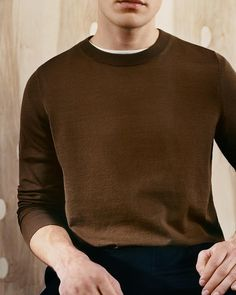 Discover a selection of men's relaxed knits in a neutral palette for spring. #ARKET