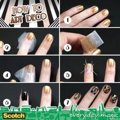 How to make nail art deco step by step DIY instructions / How To Instructions on imgfave