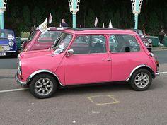 Pink Mini Cooper #love