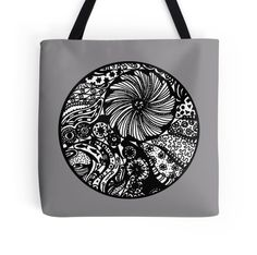 Circle 3 Coral Reef Aussie Tangle (see Description re Colour Options) http://www.redbubble.com/people/heatherian/works/13684644-circle-3-coral-reef-aussie-tangle-see-description-re-colour-options?p=tote-bag